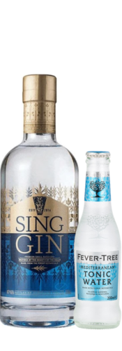 Sing Gin – OFFER – x 4 FREE Mediterranean Fevertree Tonic (LIMITED)